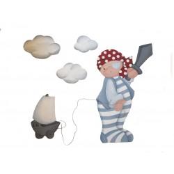 Composición bebé Pirata