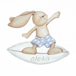 Conejito surfeando