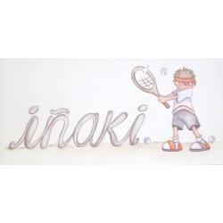 Niño tenista