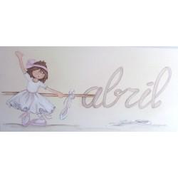 Niña bailarina con nombre