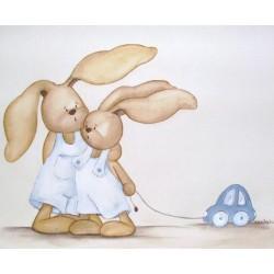 Hermanitos conejo con...