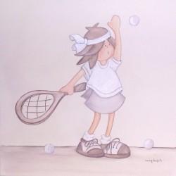 Niña tenista