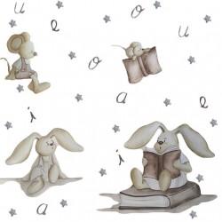 Conejitos leyendo