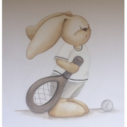 Reproducción conejito tennis