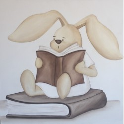 Reproducción conejito leyendo
