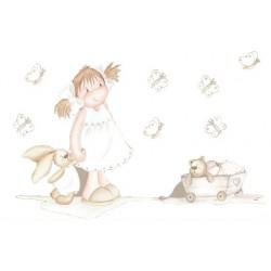 Niña con conejito