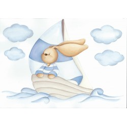 Conejito en velero