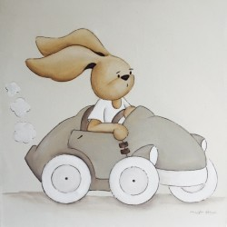 Conejito en coche